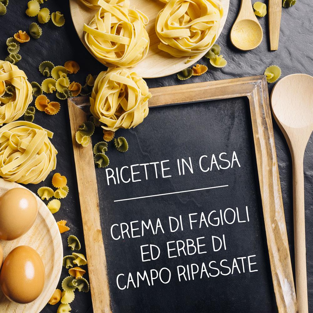 Crema di fagioli ed erbe di campo ripassate - coghi del trentino - ricette in casa - alpibio