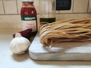 tagliatelle di farro monococco integrale al pomodoro