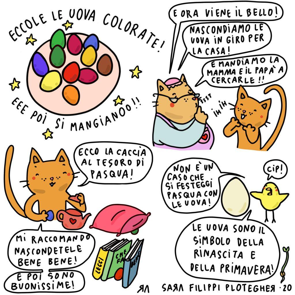 Le uova di Pasqua - Ricetta illustrata di Sara Filippi Plotegher - ricette in casa - AlpiBio