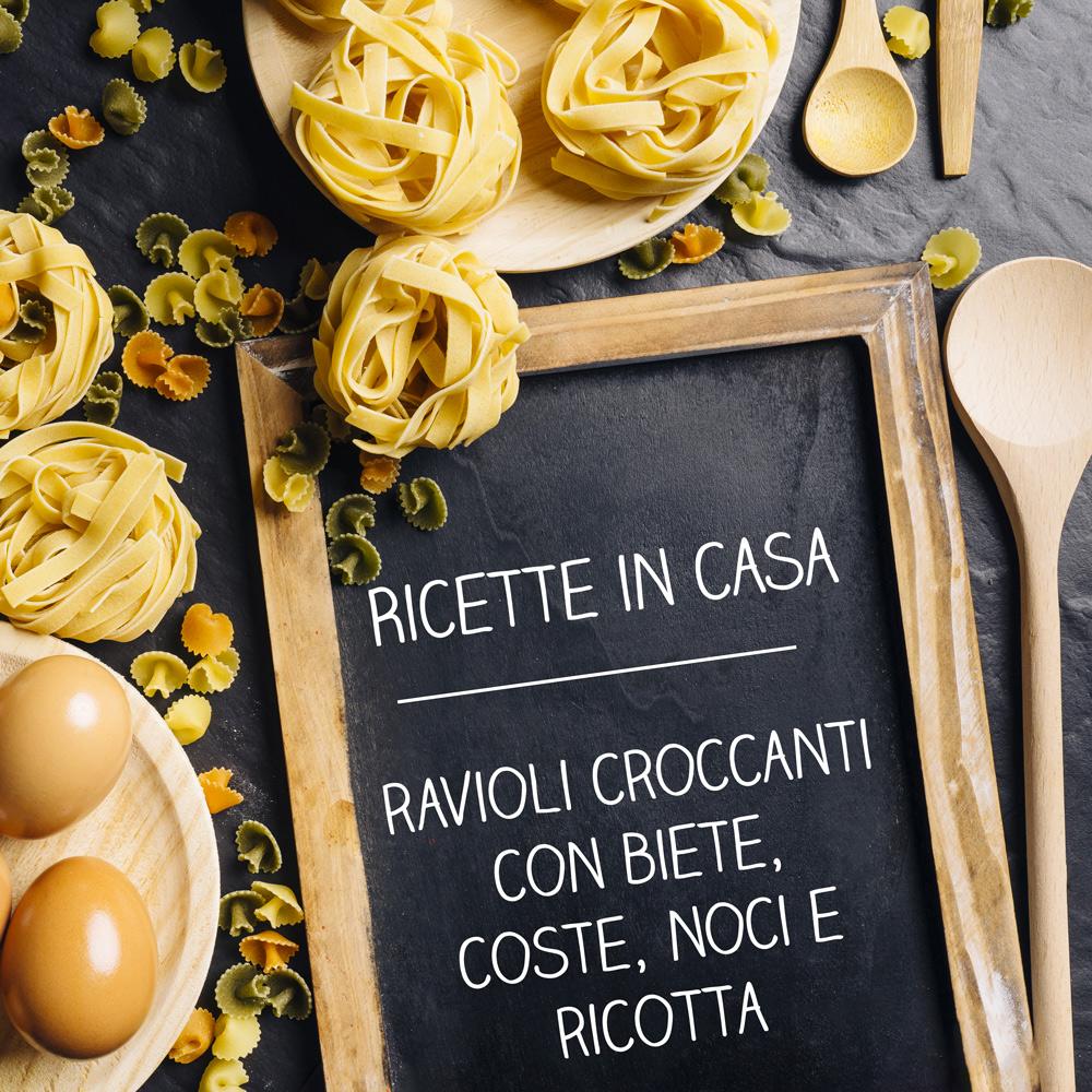 Ravioli croccanti - coghi del trentino - ricette in casa - AlpiBio